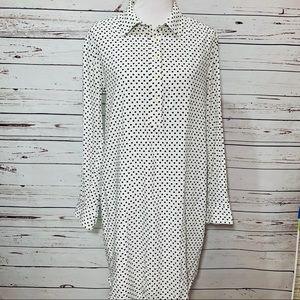 {GAP} Black & White Polka Dot Shirt Dress